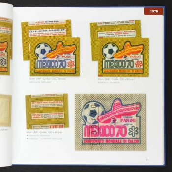 Panini Sticker-Tüten Katalog / Internationaler Fußball 1970 - 2017
