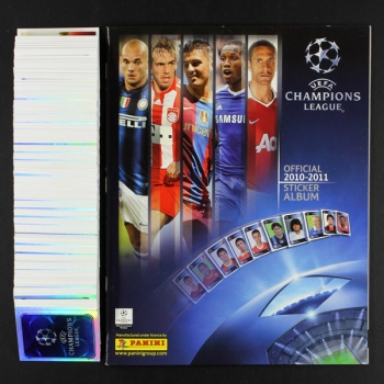 Champions League 2010 Panini Sticker Album komplett ungeklebt