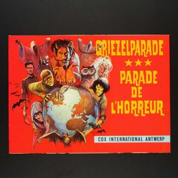 Griezelparade Cox International Sticker Leeralbum