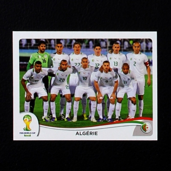 Brasil 2014 Nr. 584 Panini Sticker Algerie Team