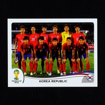 Brasil 2014 Nr. 622 Panini Sticker Korea Republic Team