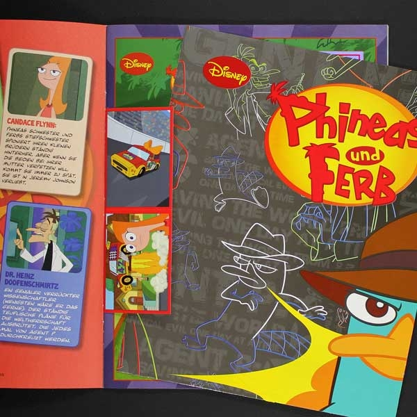 phineas und ferb panini sticker album sticker worldwide. Black Bedroom Furniture Sets. Home Design Ideas