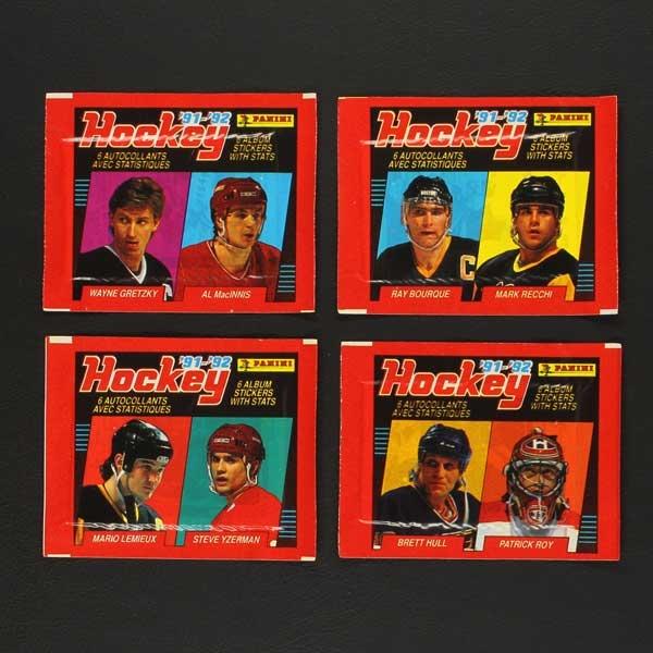 Hockey 91-92 Panini Sticker Tüte- Sticker-Worldwide