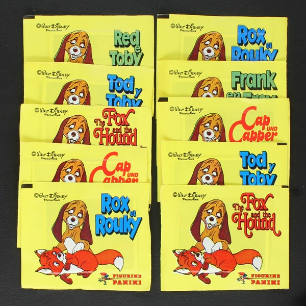 Fox and the Hound Panini 10 sticker bags